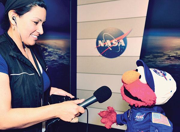 Linnea Edmeier interviews Elmo