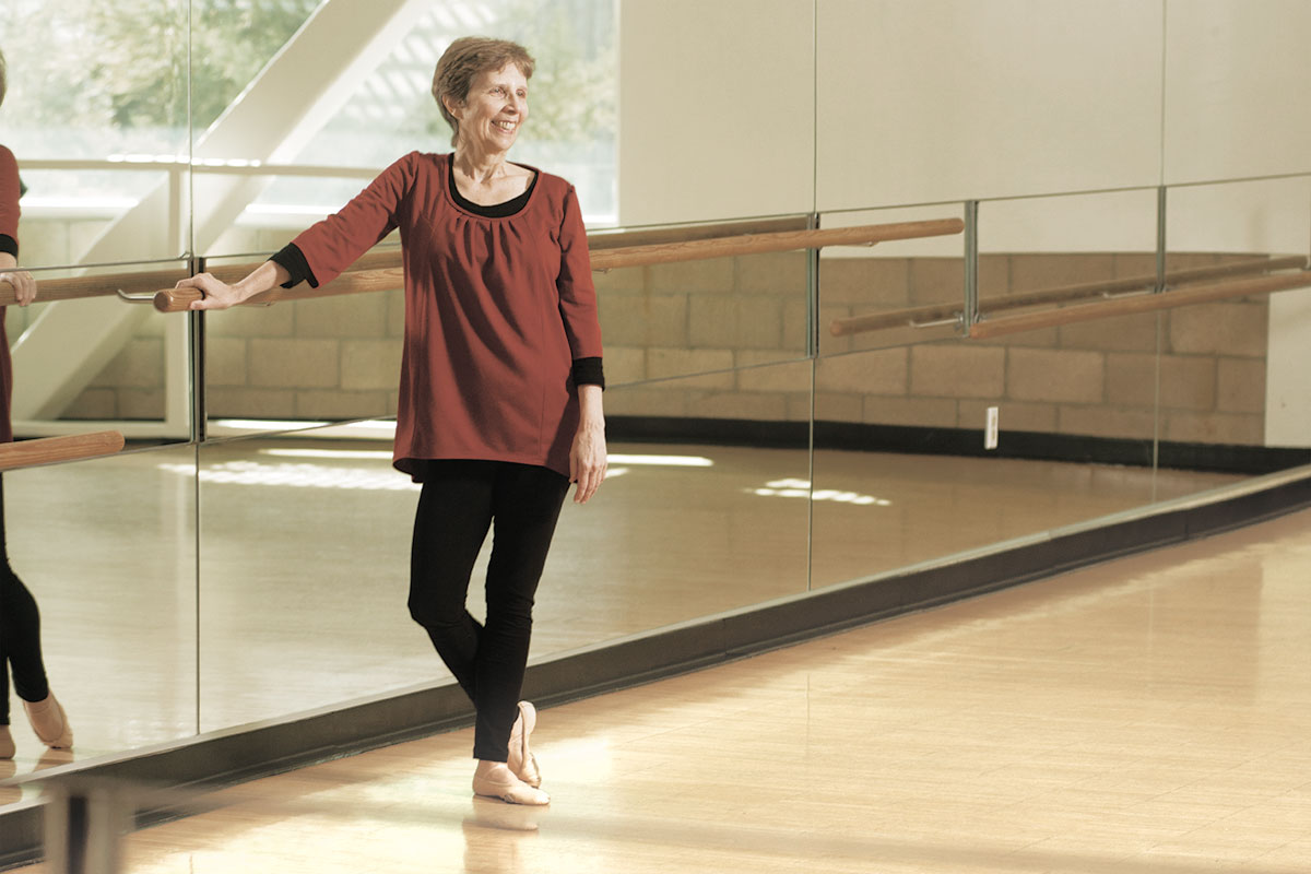 Beverly Bossler at the ballet barre