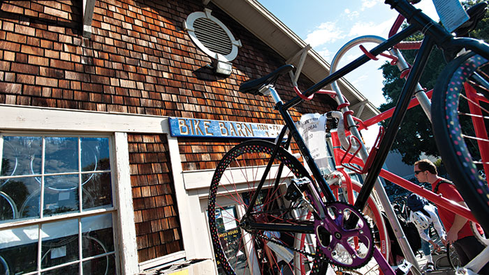 Exterior of the Bike Barn