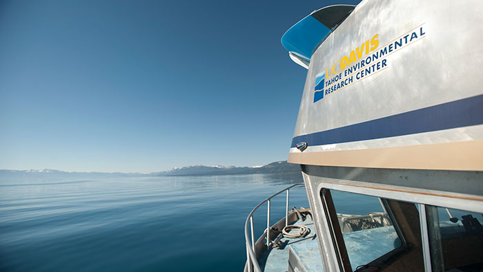 UC Davis boat on Lake Tahoe
