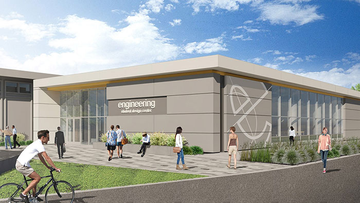 Engineering Student Design Center expansion rendering