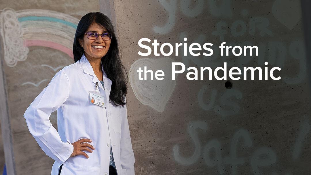 Graphic header: Stories from the Pandemic