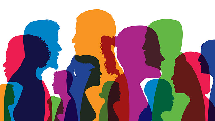 colorful illustration of human silhouettes