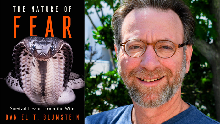 Daniel Blumstein photo and book cover for The Nature of Fear