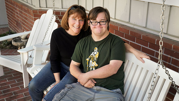 Beth Foraker with her son Patrick