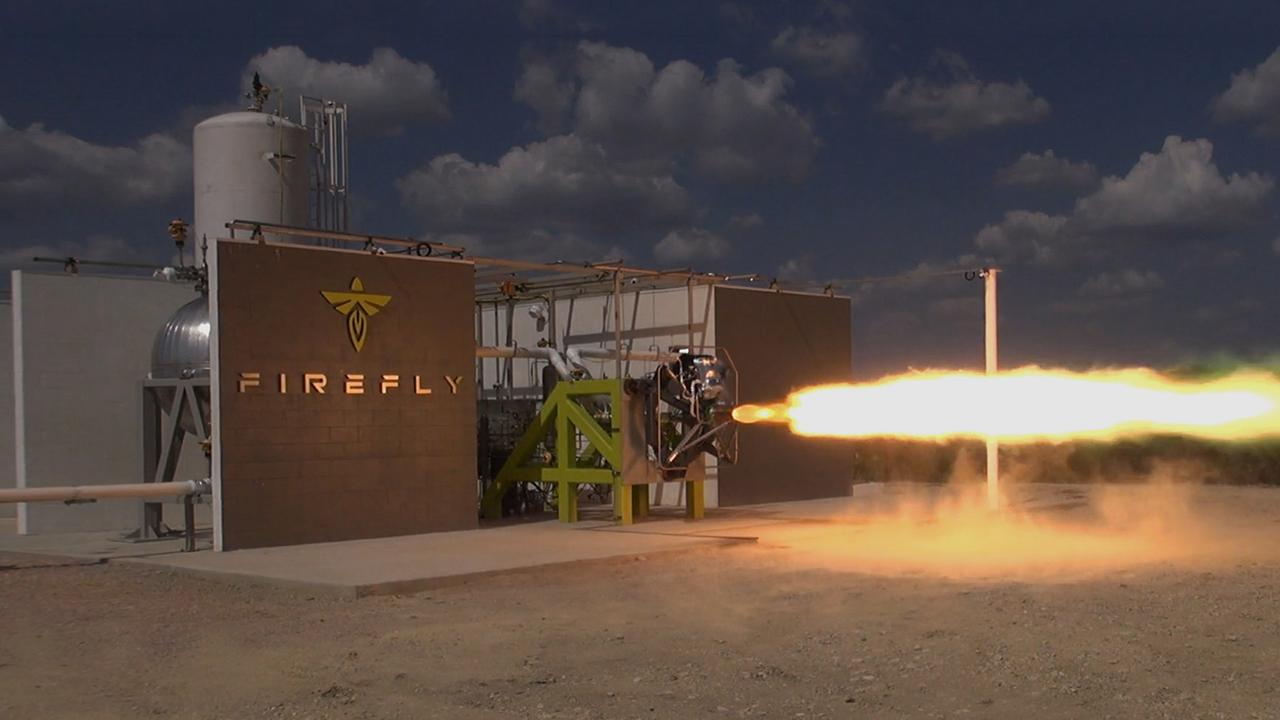 Firefly Aerospace engine test