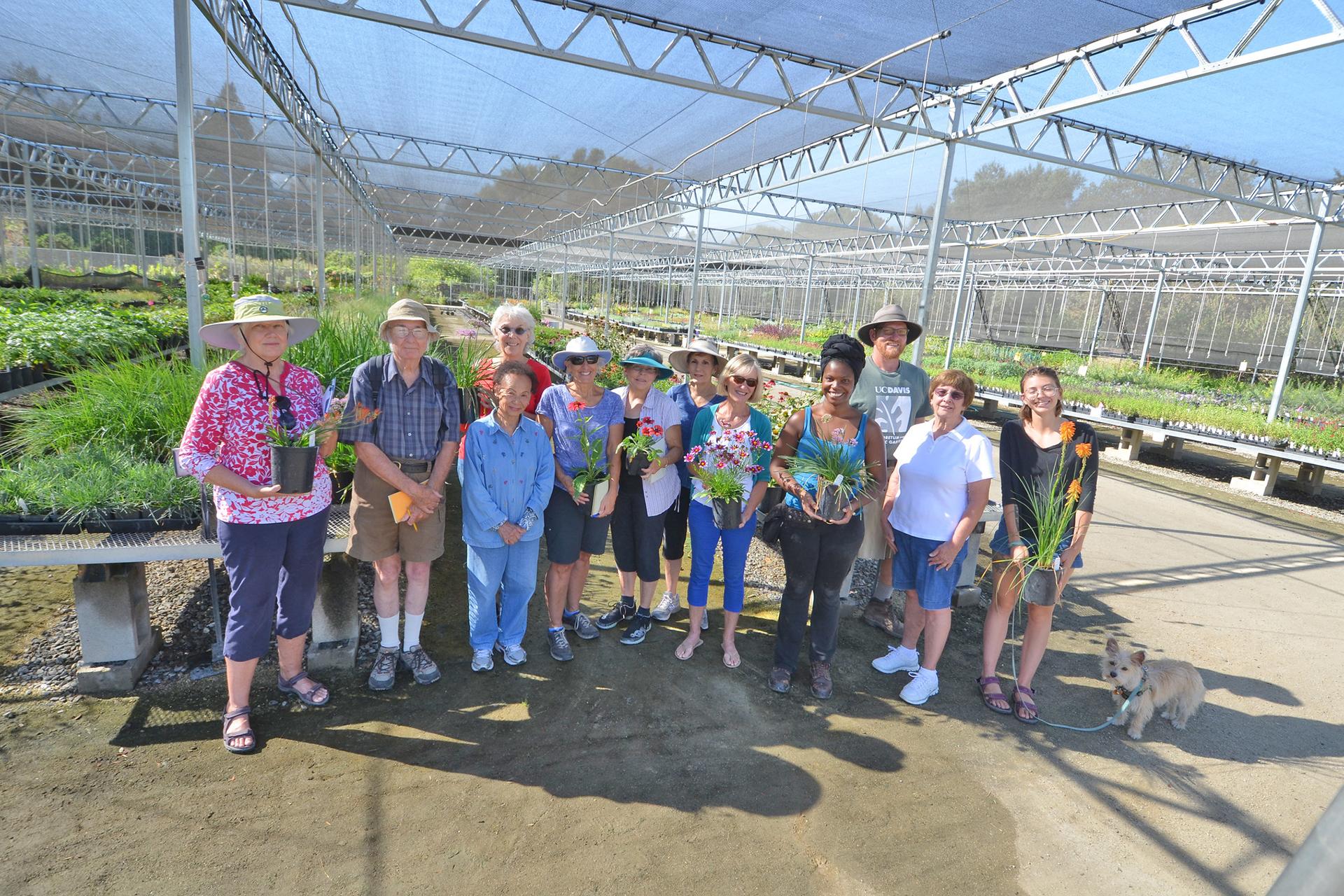 Plant Sales volunteers at the nursery