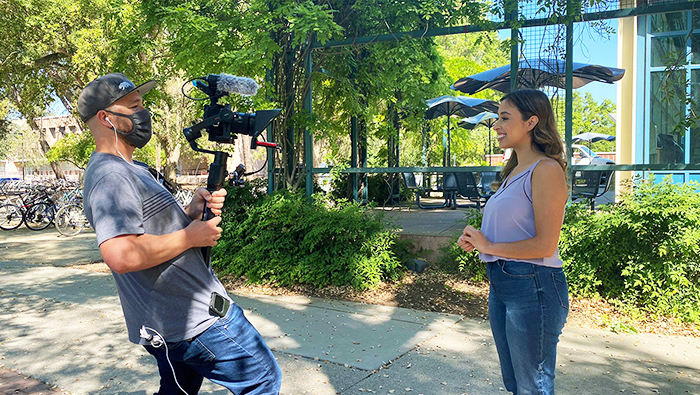 Karina Talamantes '11 goes on camera for 'The College Tour'