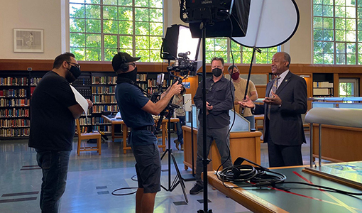 """Chancellor Gary S. May films """"The College Tour"""""""